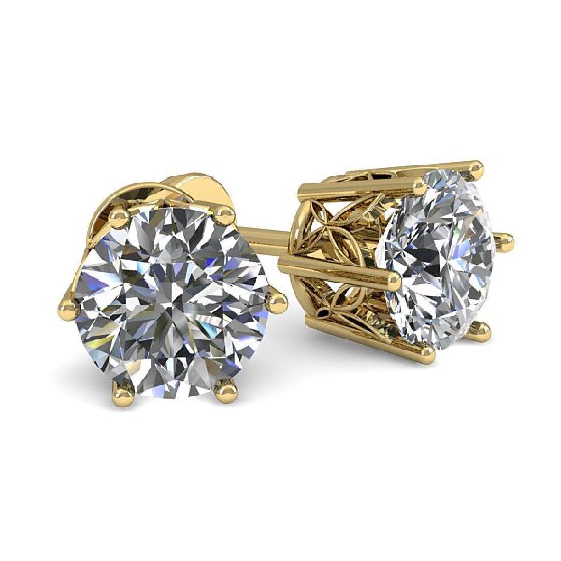 0.53 CTW Certified VS/SI Diamond Stud Art Deco Earrings