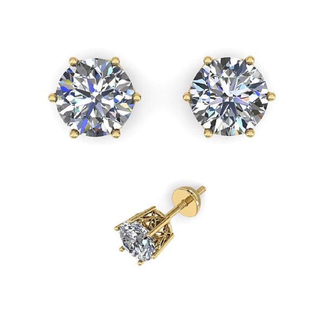 0.53 CTW Certified VS/SI Diamond Stud Art Deco Earrings - 2