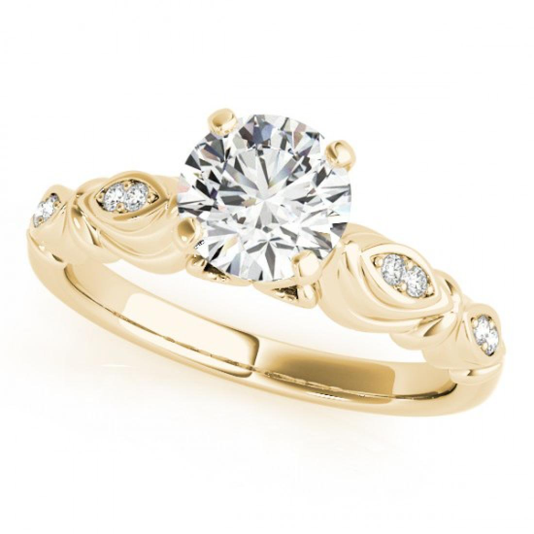 0.82 CTW Certified VS/SI Diamond Solitaire Antique Ring