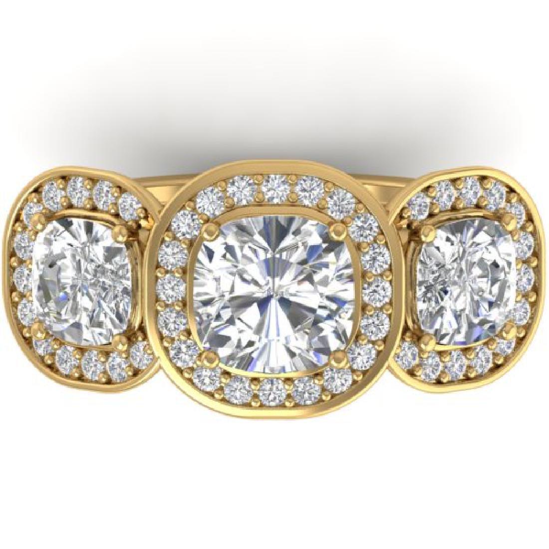 2.7 CTW Cushion Cut Certified VS/SI Diamond Art Deco 3