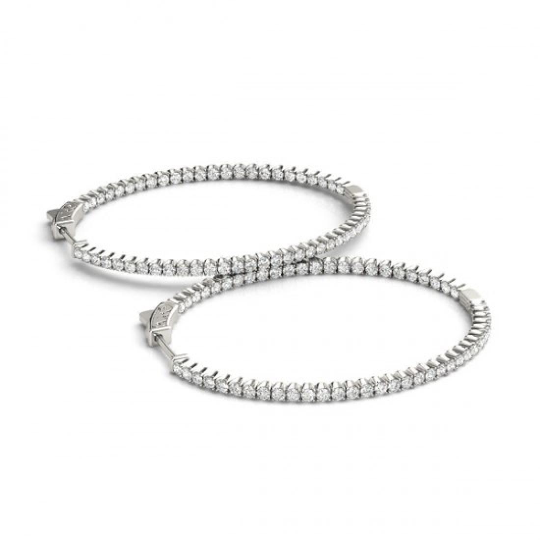 5.25 CTW Diamond VS/SI Certified 45 Mm Hoop Earrings