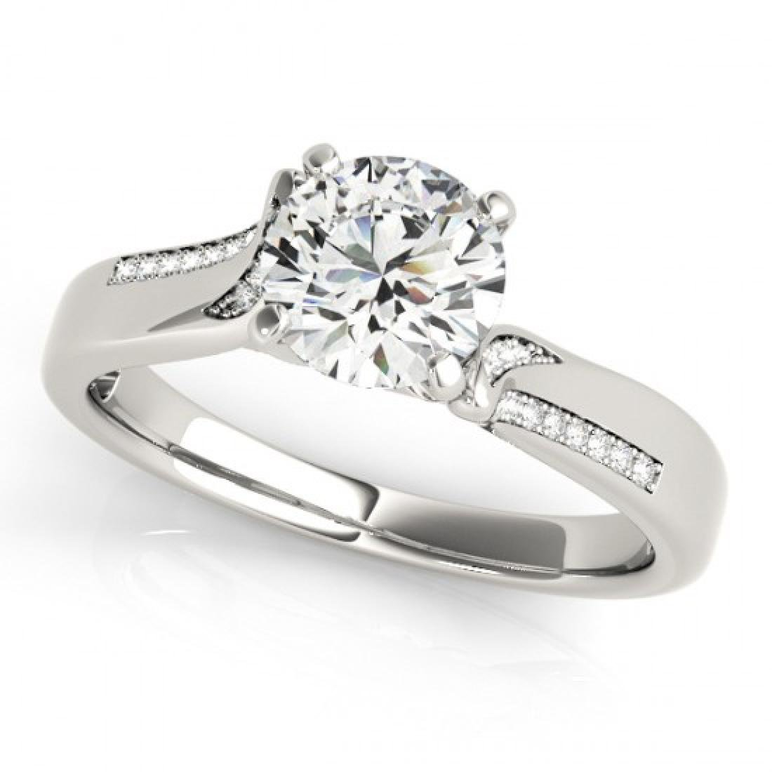 1.18 CTW Certified VS/SI Diamond Solitaire Ring 14K