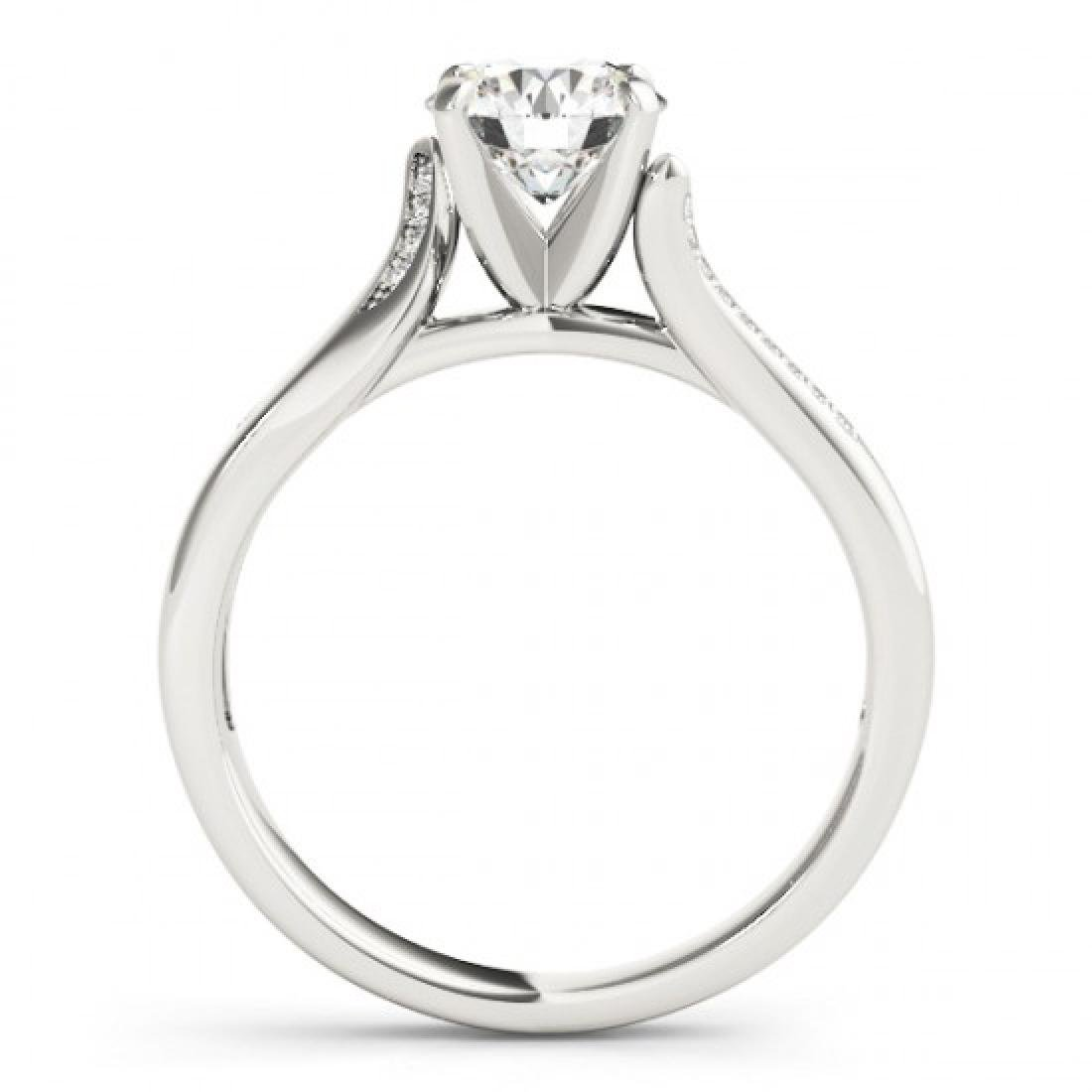 1.18 CTW Certified VS/SI Diamond Solitaire Ring 14K - 2