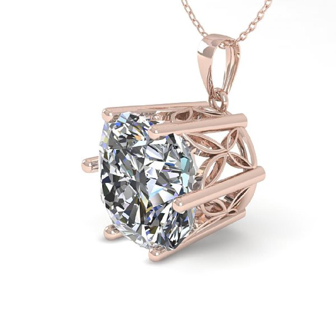 1 CTW Certified VS/SI Cushion Cut Diamond Art Deco
