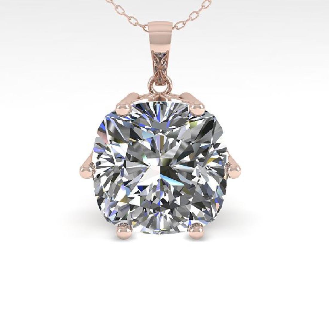 1 CTW Certified VS/SI Cushion Cut Diamond Art Deco - 2