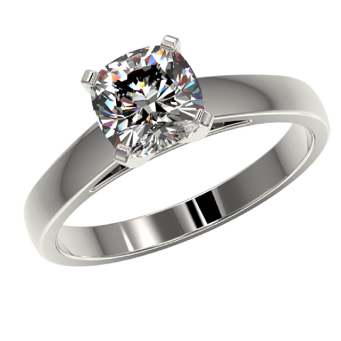 1.25 CTW Certified VS/SI Quality Cushion Cut Diamond - 2