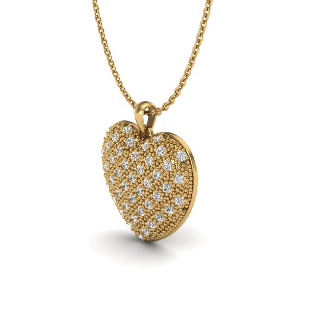 1.0 Designer CTW Micro Pave VS/SI Diamond Heart - 2