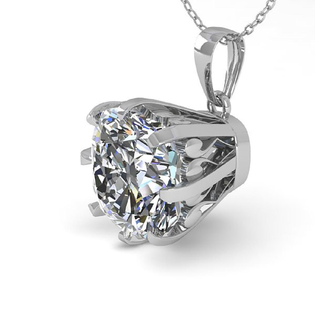 1 CTW VS/SI Cushion Diamond Necklace 14K White Gold