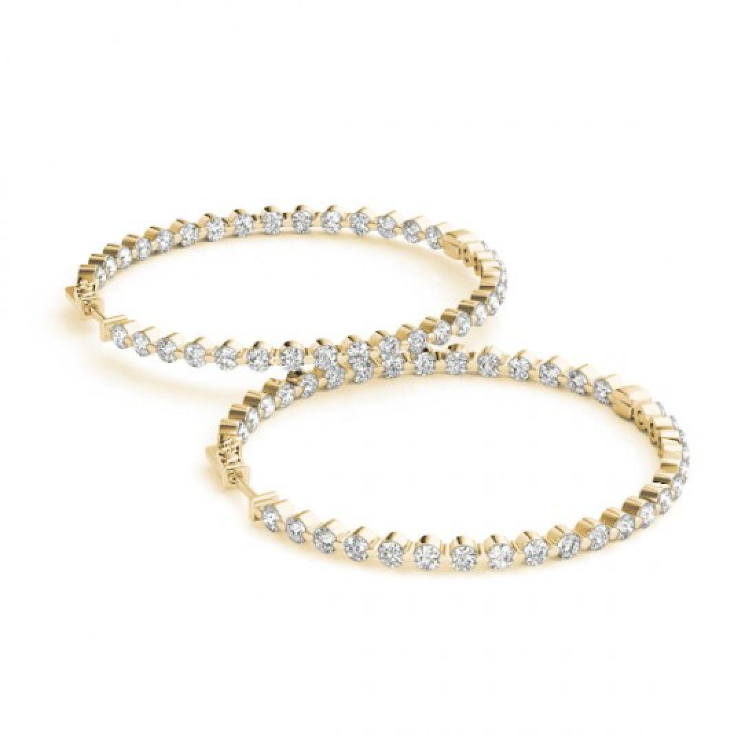 4.25 CTW Diamond VS/SI Certified 50 Mm Hoop Earrings