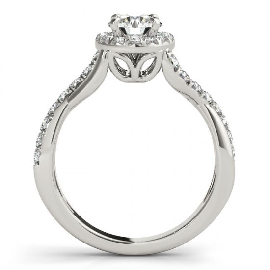 0.6 CTW Certified VS/SI Diamond Solitaire Halo Ring 14K - 2