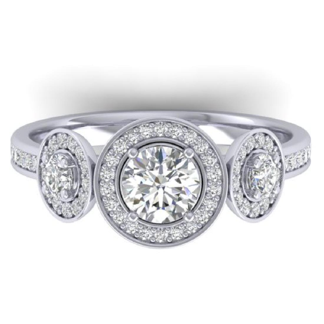 1.25 CTW Certified VS/SI Diamond Art Deco 3 Stone Micro