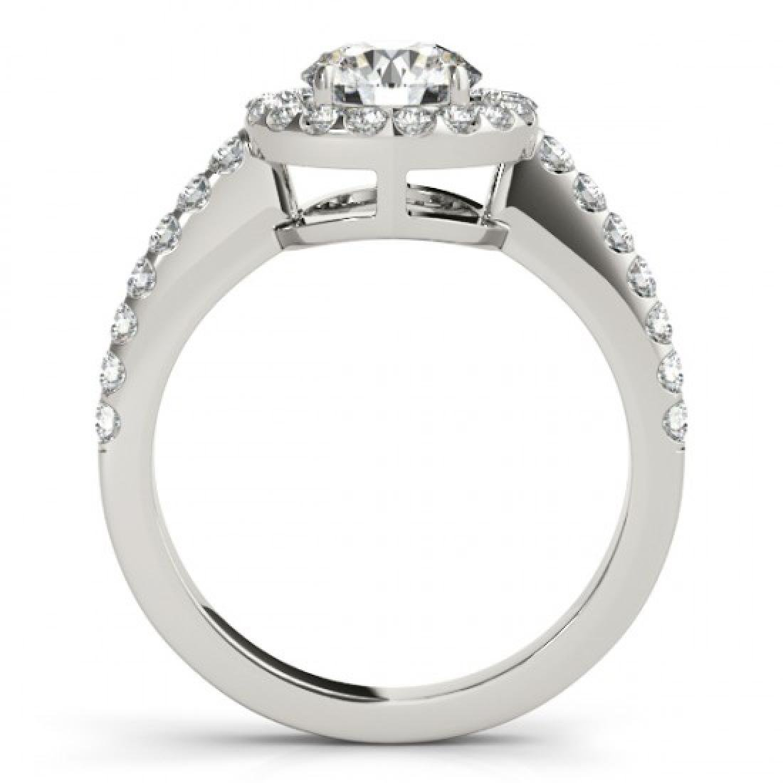 0.76 CTW Certified VS/SI Diamond Solitaire Halo Ring - 2