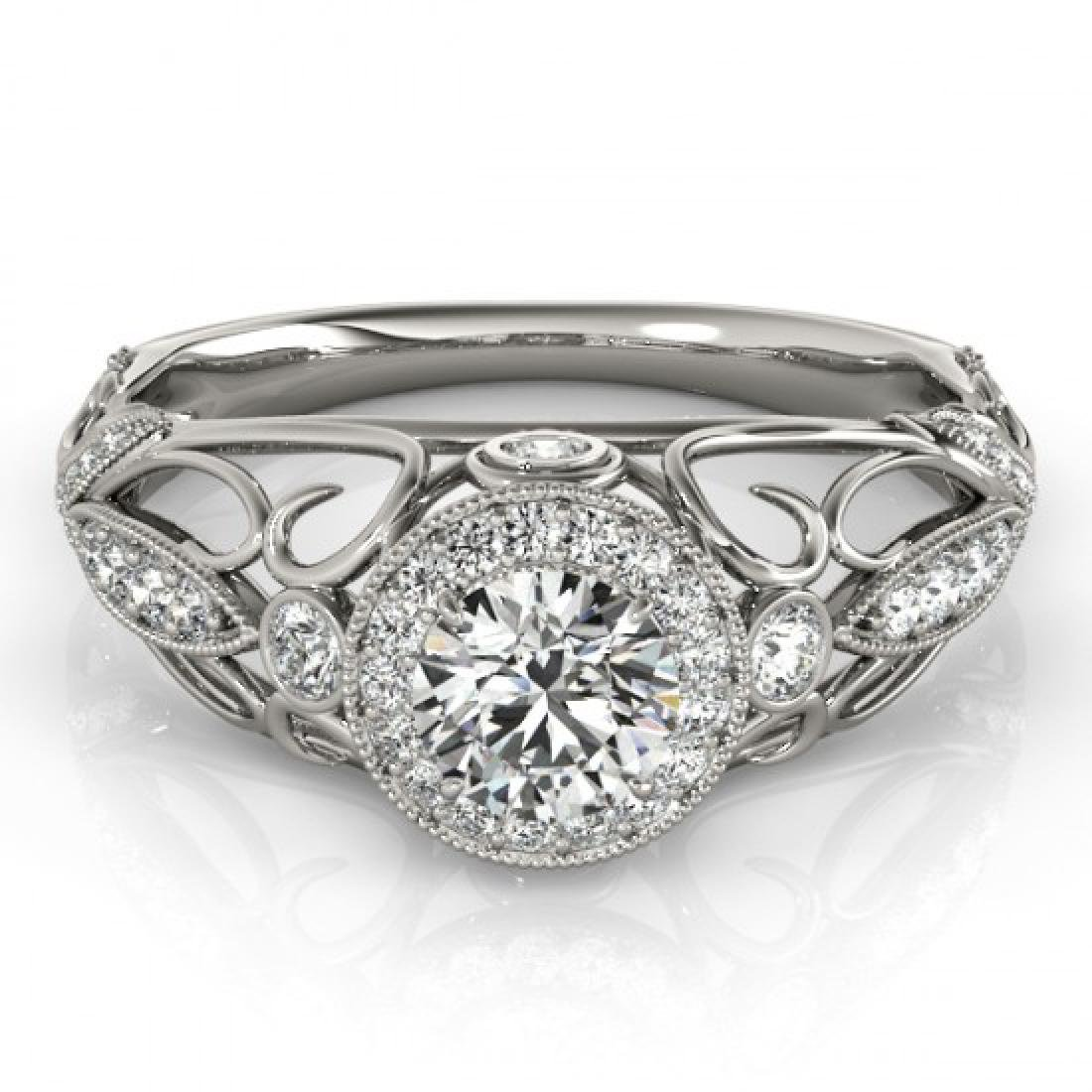 0.93 CTW Certified VS/SI Diamond Solitaire Antique Ring