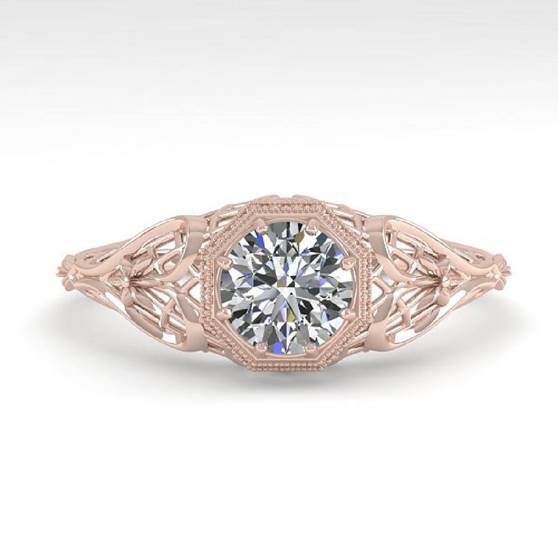 0.50 CTW VS/SI Diamond Solitaire Ring 14K Rose Gold