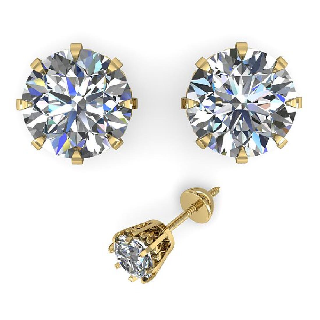 2.0 CTW VS/SI Diamond Stud Solitaire Earrings 14K - 2