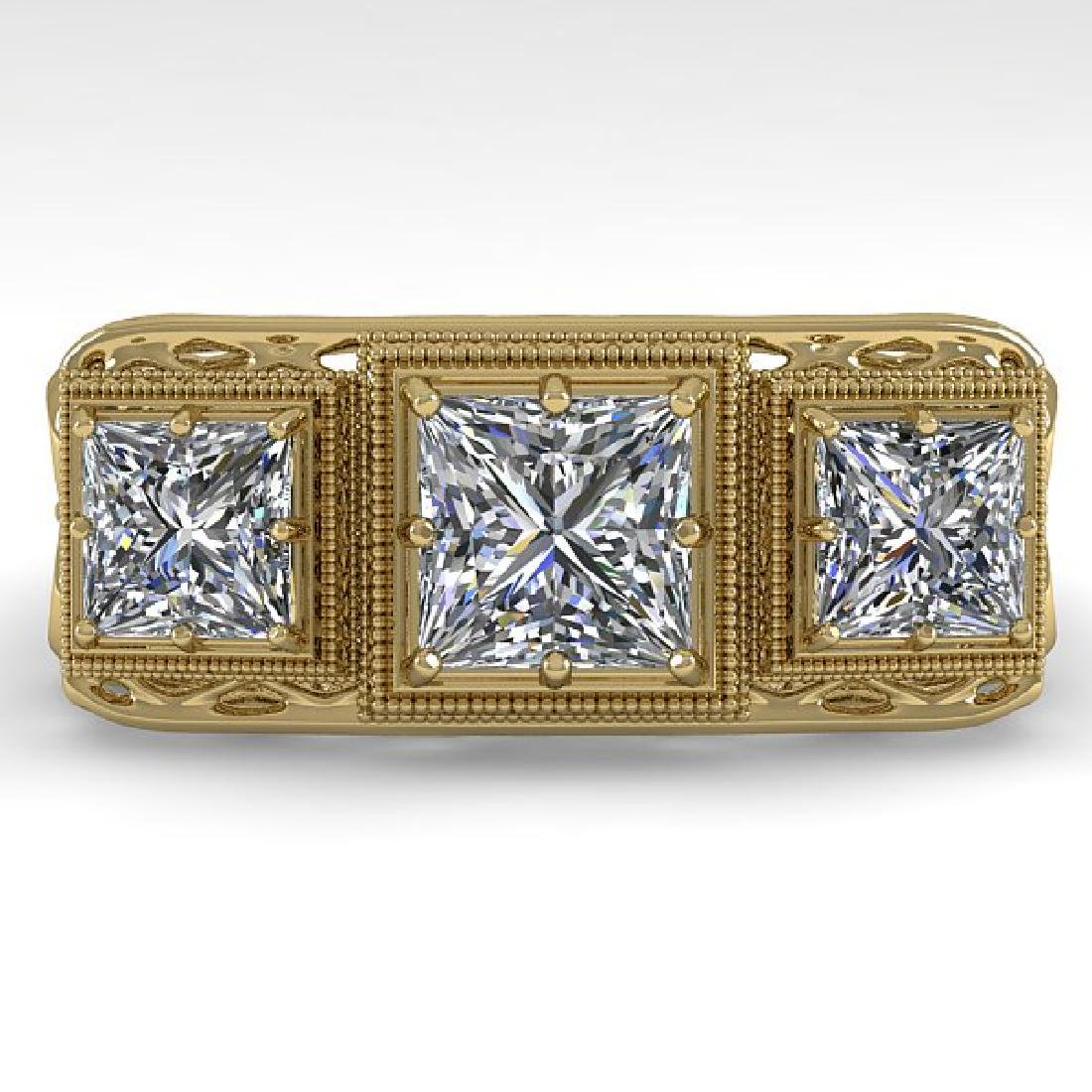 2 CTW VS/SI Princess Diamond Ring 14K Yellow Gold