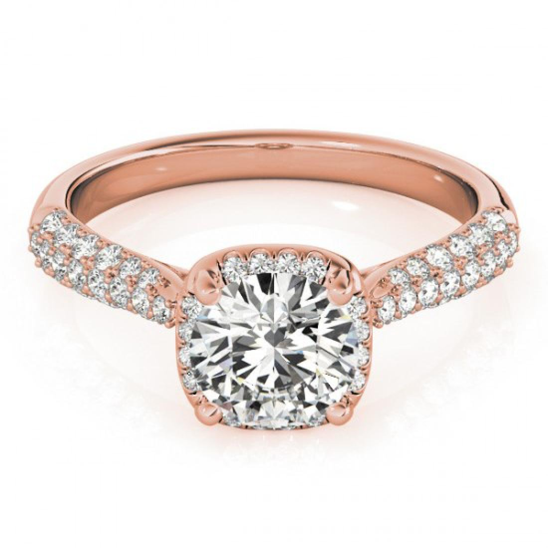 1.5 CTW Certified VS/SI Diamond Solitaire Halo Ring 14K