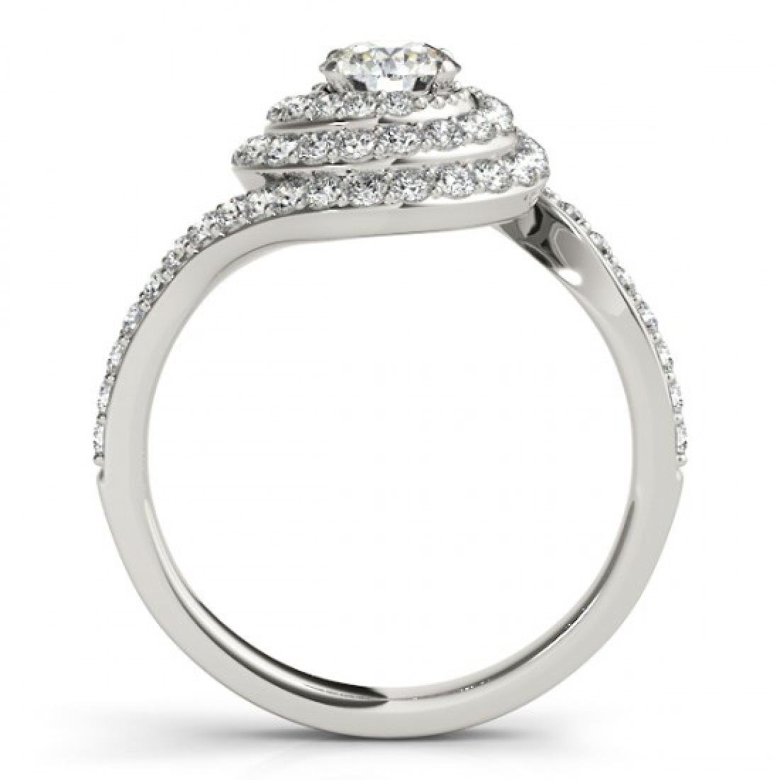 1.54 CTW Certified VS/SI Diamond Solitaire Halo Ring - 2