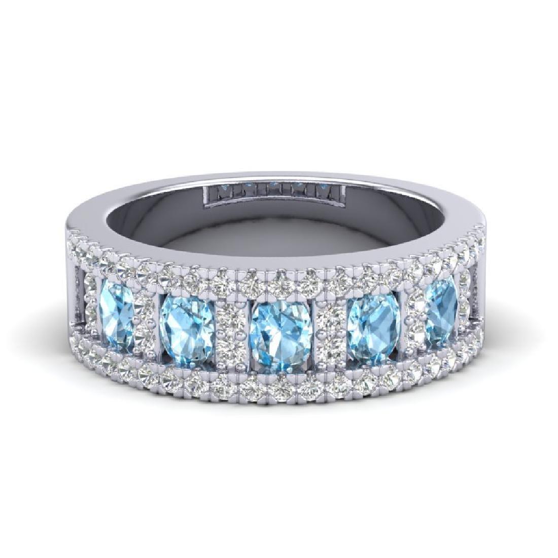 2 CTW Topaz & Micro Pave VS/SI Diamond Designer