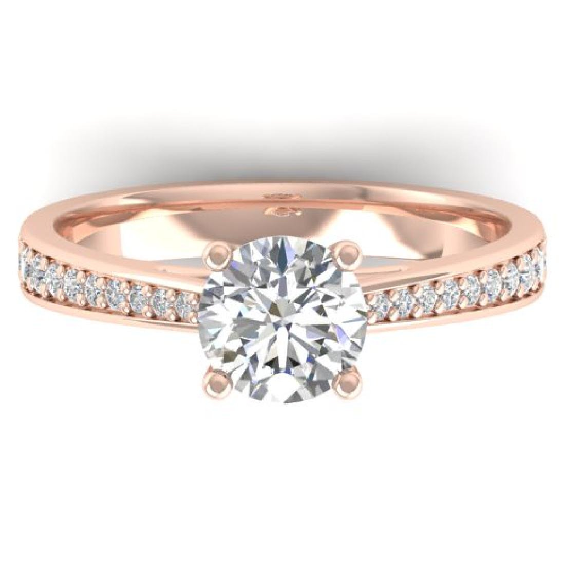 1.26 CTW Certified VS/SI Diamond Solitaire Art Deco