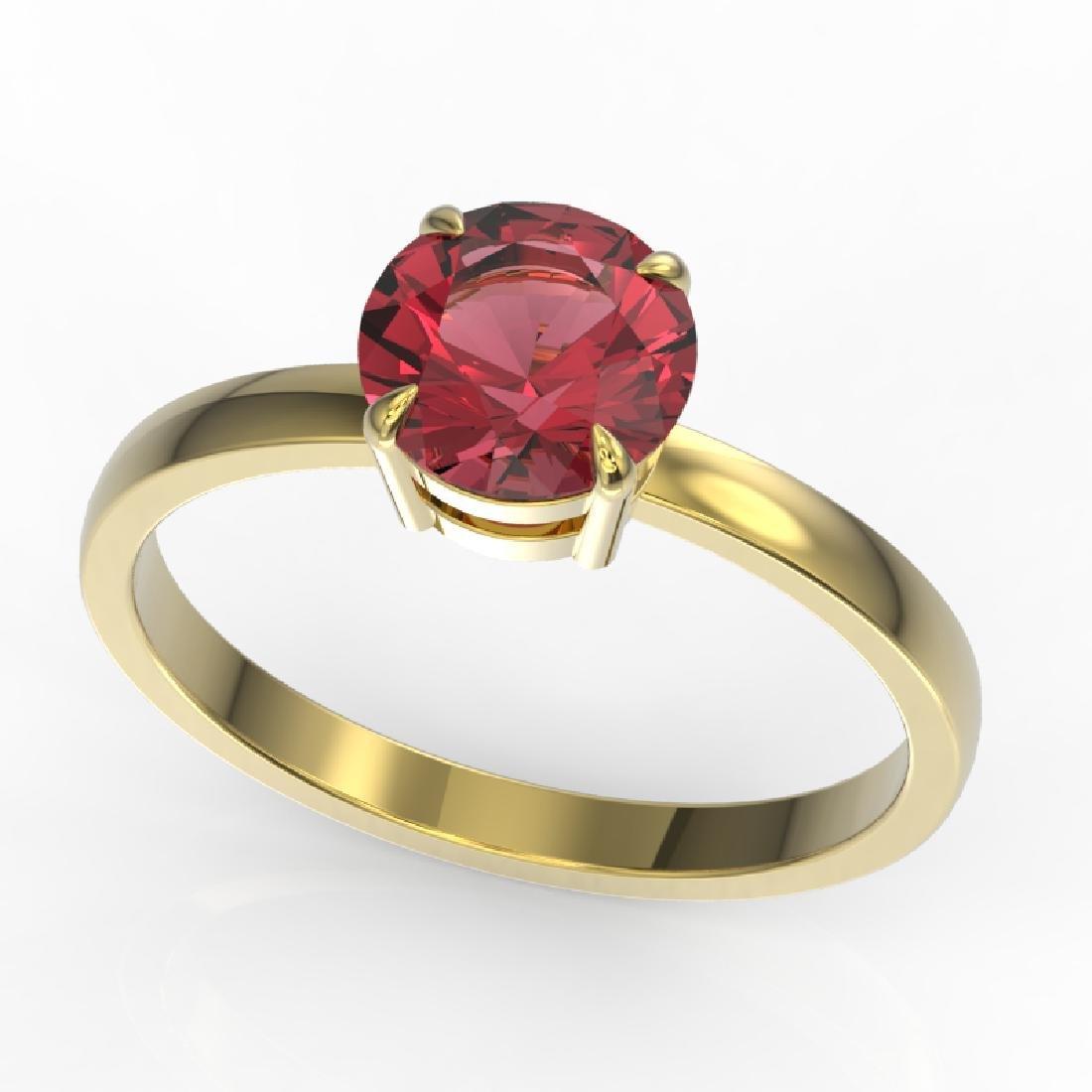 2 CTW Pink Tourmaline Designer Inspired Solitaire - 2