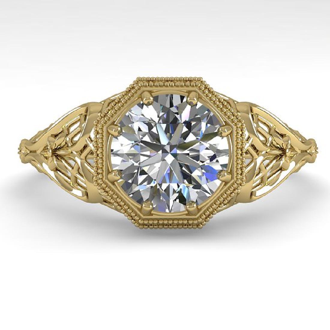1.50 CTW VS/SI Diamond Solitaire Ring 14K Yellow Gold