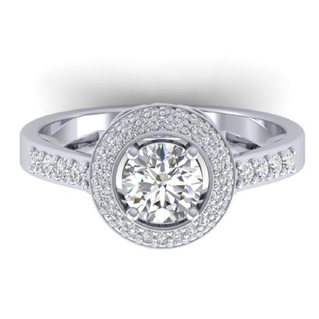 1.45 CTW Certified VS/SI Diamond Art Deco Micro Halo