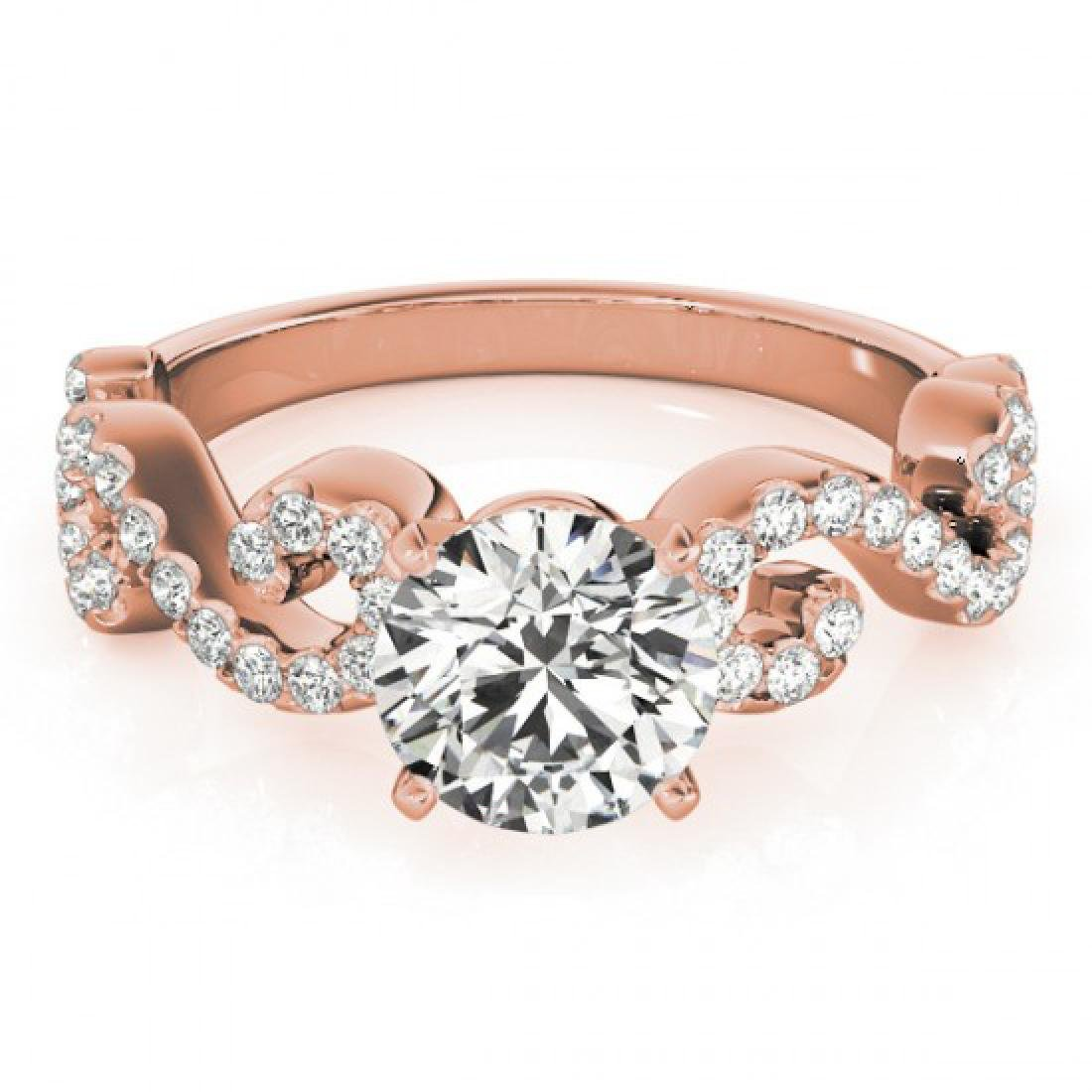 1.4 CTW Certified VS/SI Diamond Solitaire Ring 14K Rose