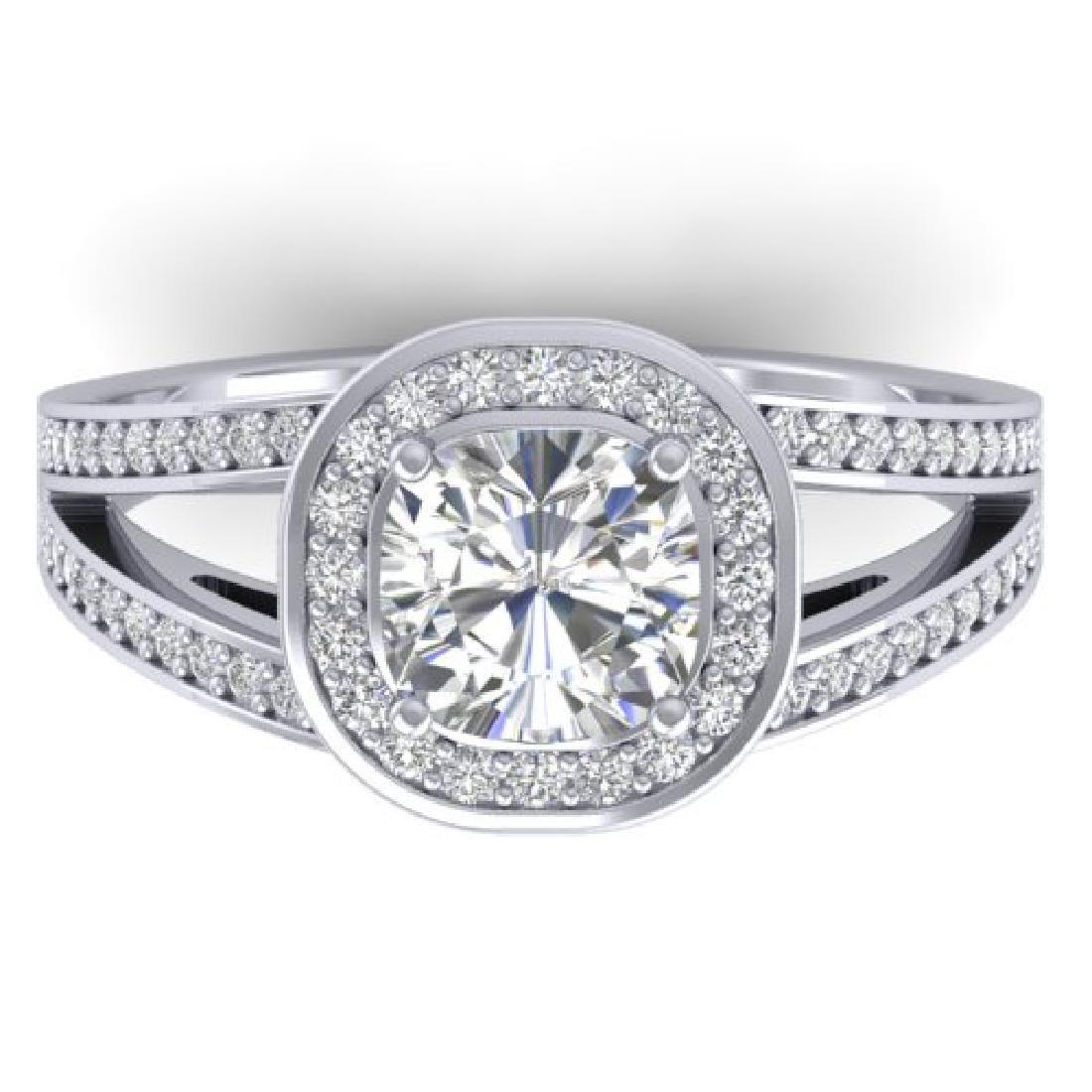 1.5 CTW Cushion Cut Certified VS/SI Diamond Art Deco