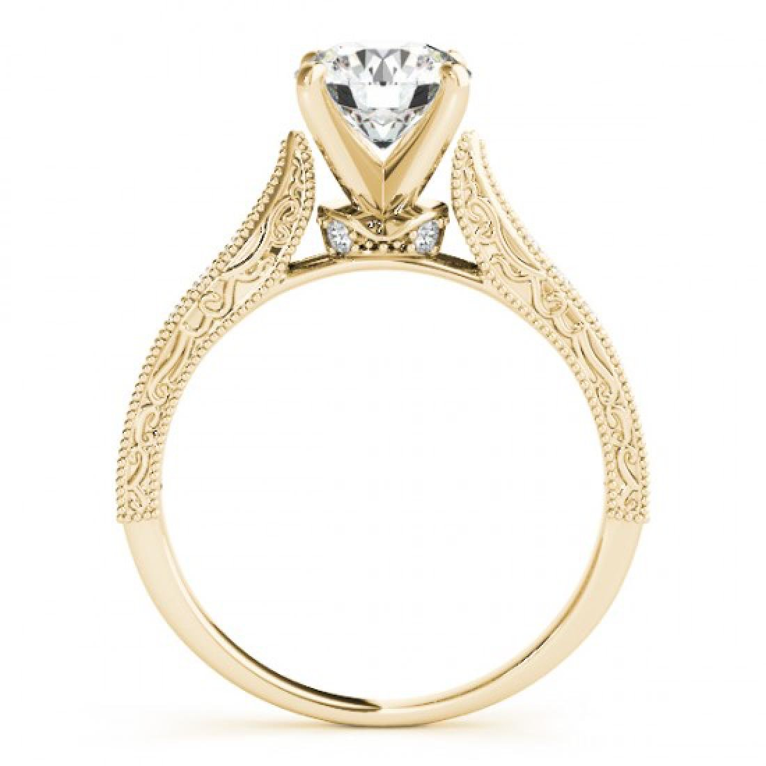 0.98 CTW Certified VS/SI Diamond Solitaire Antique Ring - 2