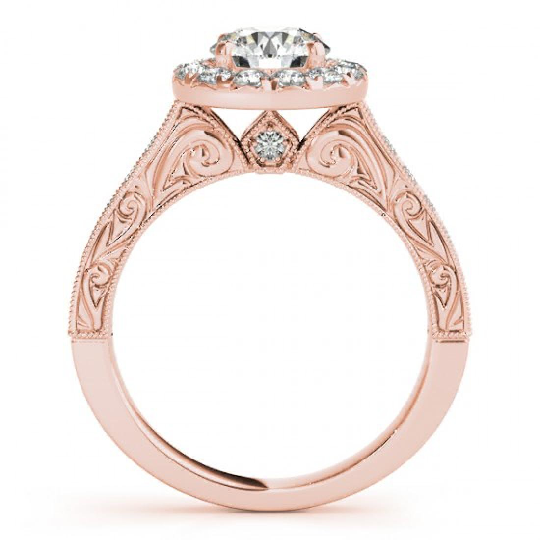 2.22 CTW Certified VS/SI Diamond Solitaire Halo Ring - 2