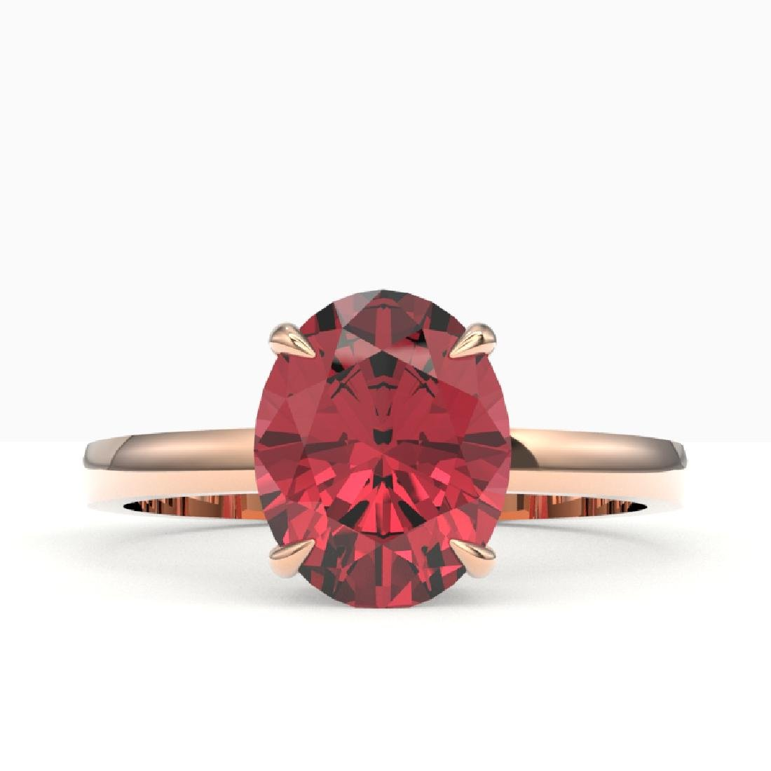 3 CTW Pink Tourmaline Designer Inspired Solitaire Ring