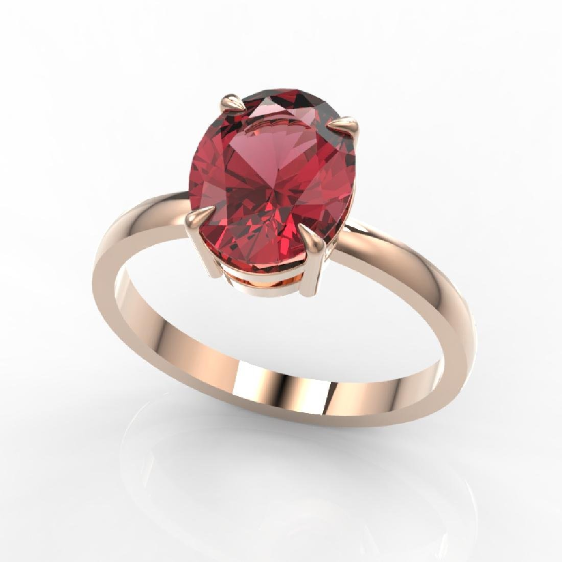 3 CTW Pink Tourmaline Designer Inspired Solitaire Ring - 2