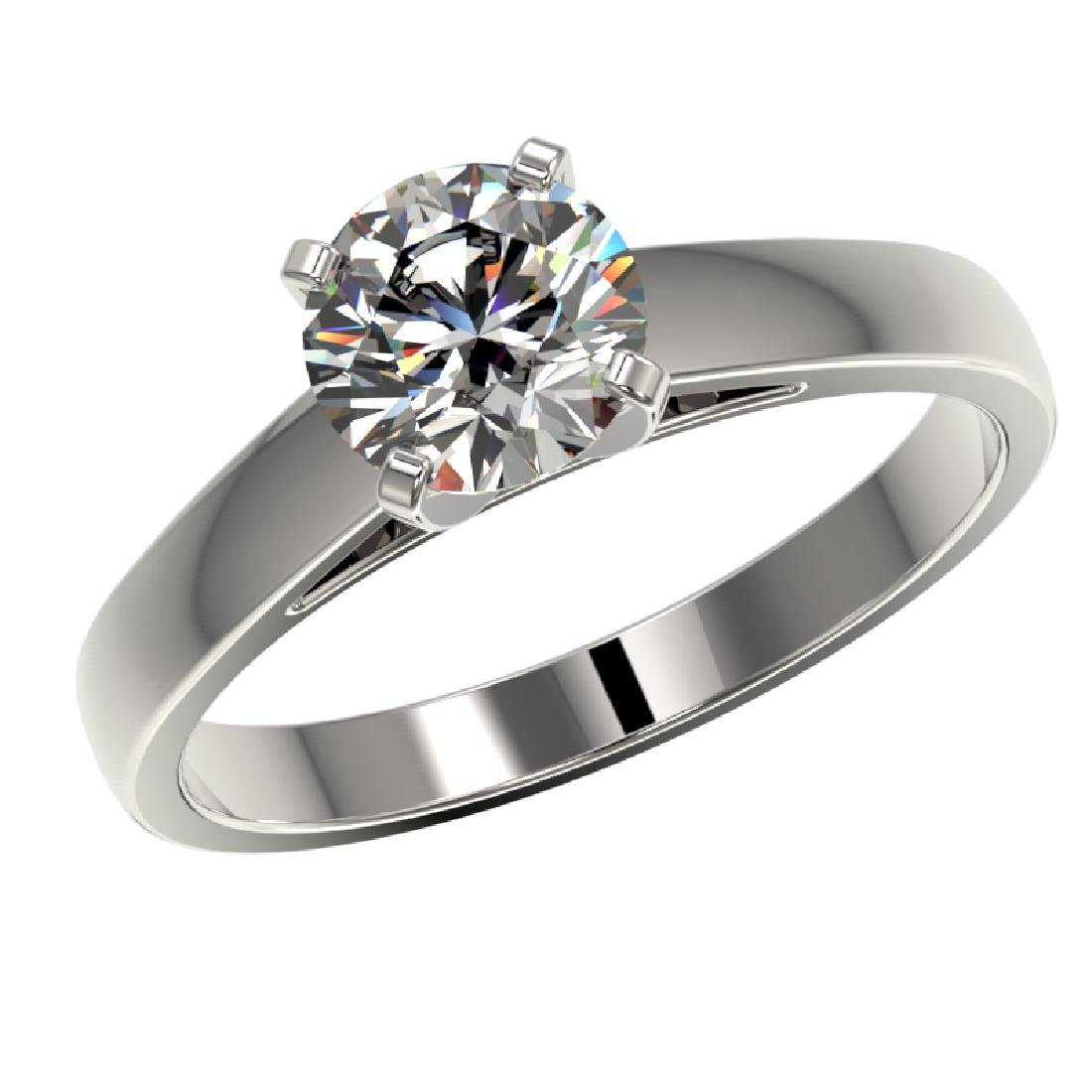 1.29 CTW Certified H-SI/I Quality Diamond Solitaire - 2
