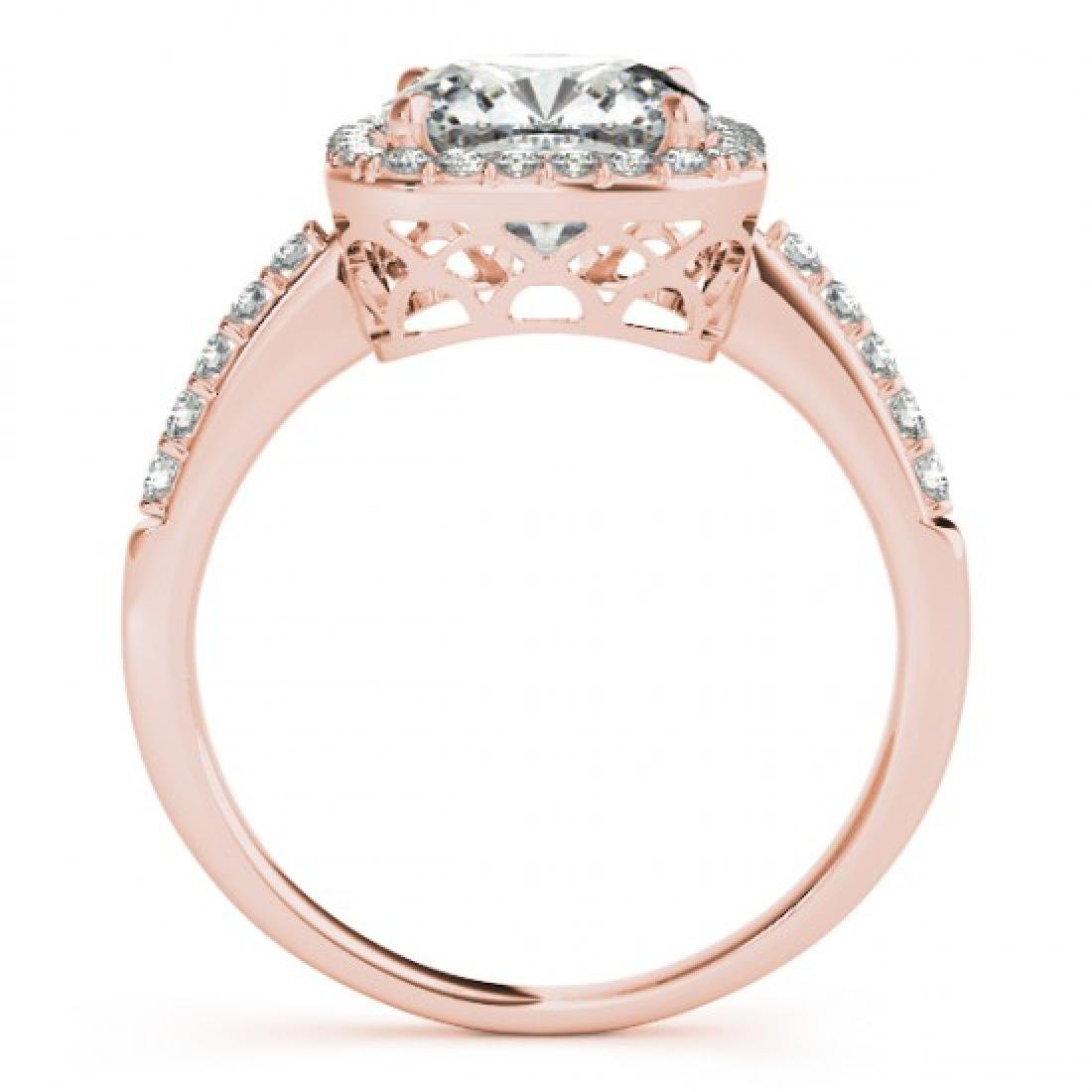 1.01 CTW Certified VS/SI Cushion Diamond Solitaire Halo - 2