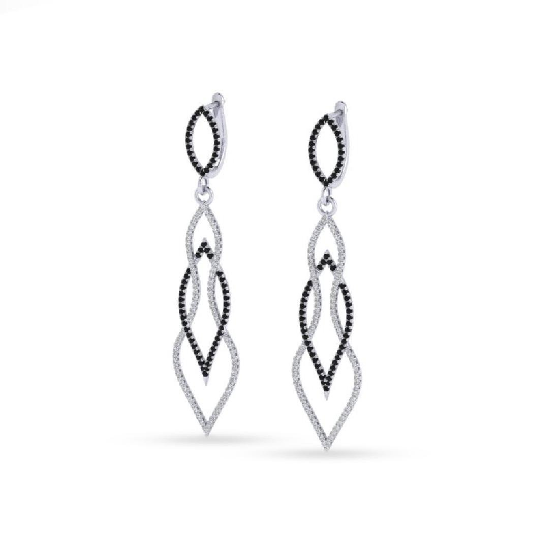 1.90 CTW Micro Pave Black & White VS/SI Diamond