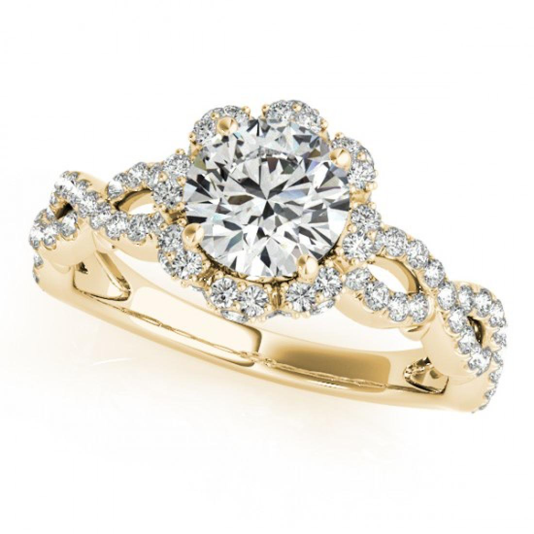 1.69 CTW Certified VS/SI Diamond Solitaire Halo Ring