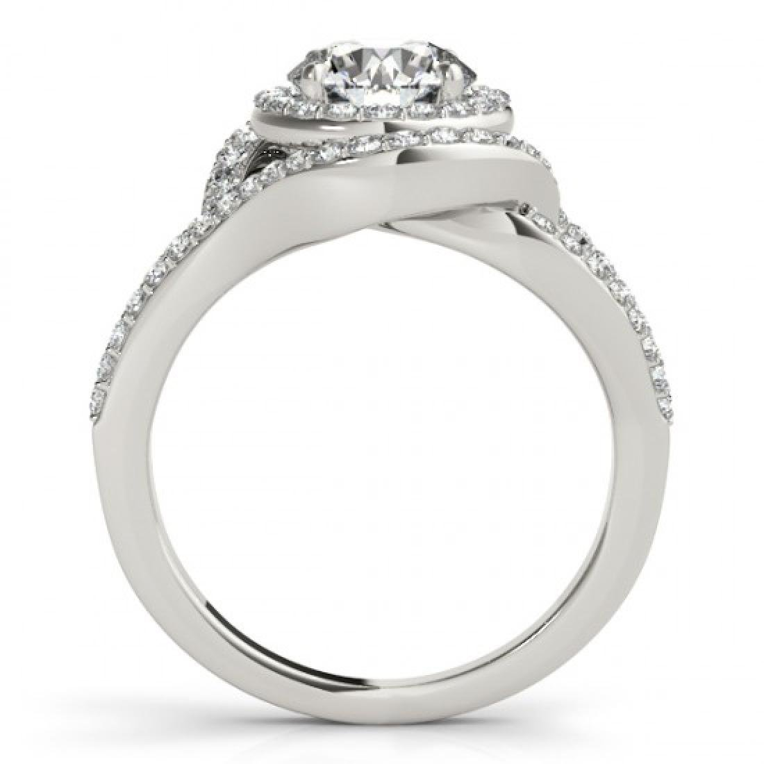 1.6 CTW Certified VS/SI Diamond Solitaire Halo Ring 14K - 2