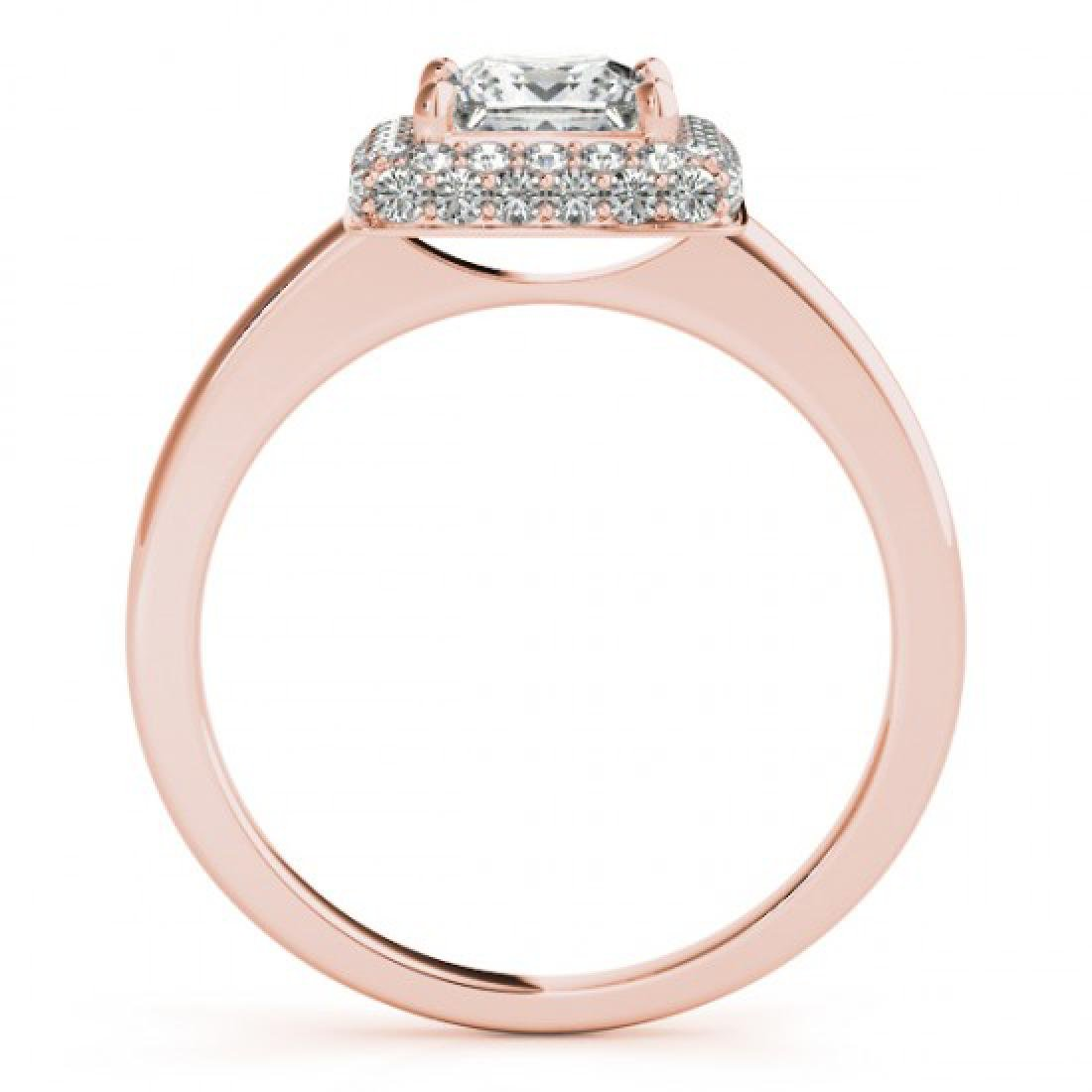 1.6 CTW Certified VS/SI Princess Diamond Solitaire Halo - 2