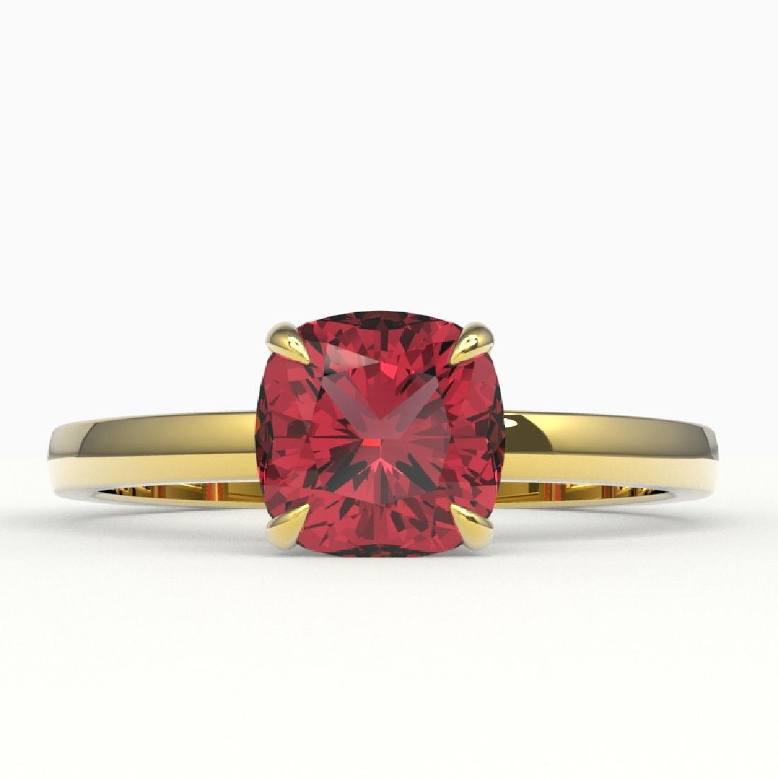 2 CTW Cushion Cut Pink Tourmaline Solitaire Engagement
