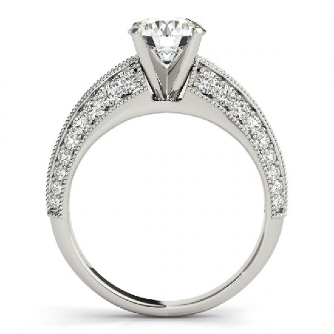 1.33 CTW Certified VS/SI Diamond Solitaire Antique Ring - 2