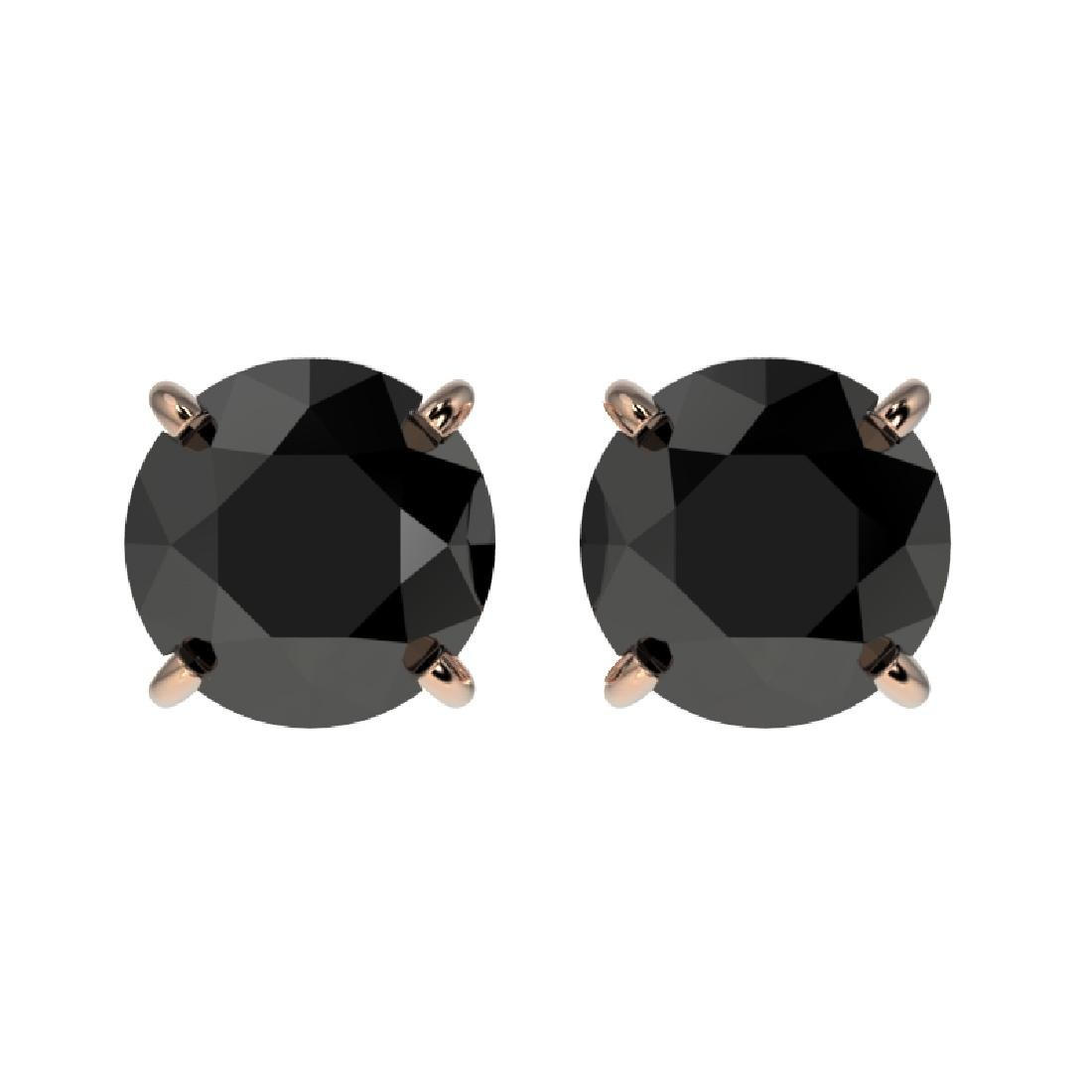1.61 CTW Fancy Black VS Diamond Solitaire Stud Earrings