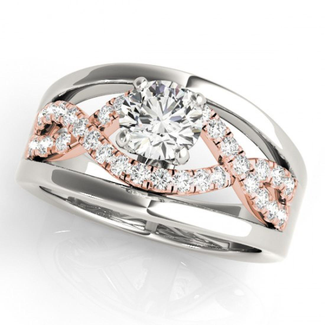 1.3 CTW Certified VS/SI Diamond Solitaire Ring 14K