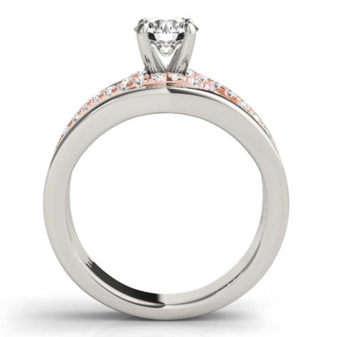 1.3 CTW Certified VS/SI Diamond Solitaire Ring 14K - 2