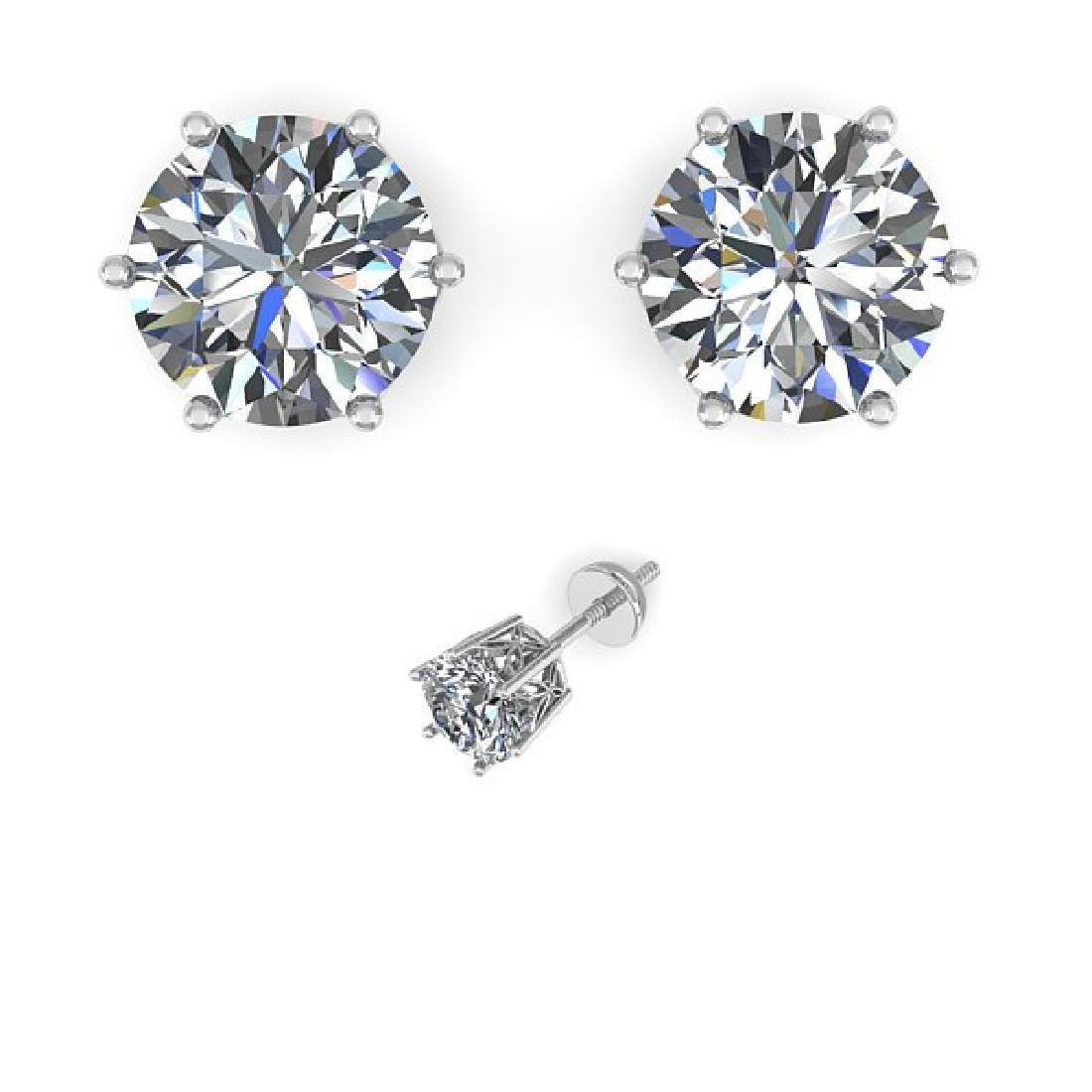 1.55 CTW Certified VS/SI Diamond Stud Art Deco Earrings - 2