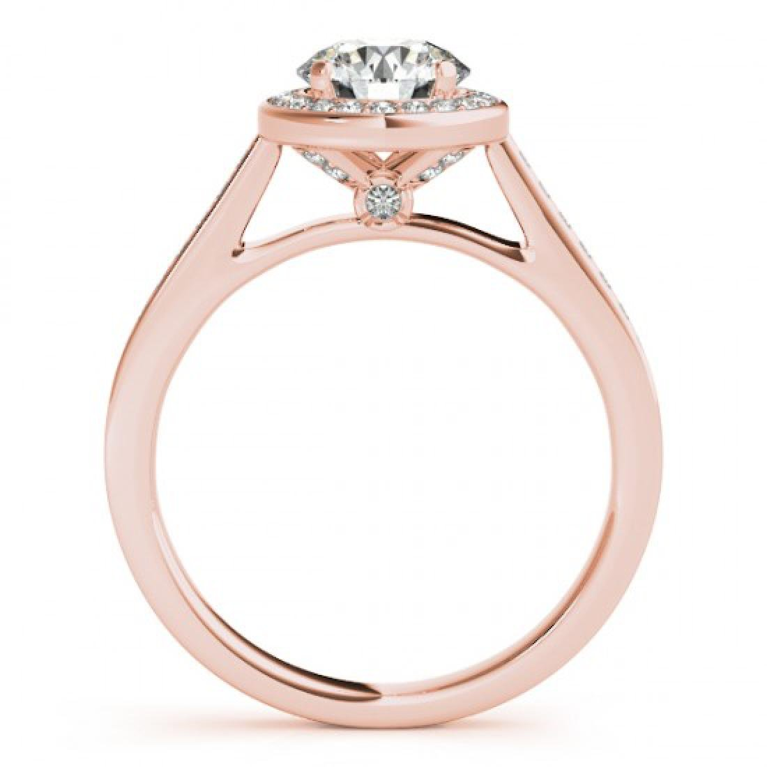 1.93 CTW Certified VS/SI Diamond Solitaire Halo Ring - 2
