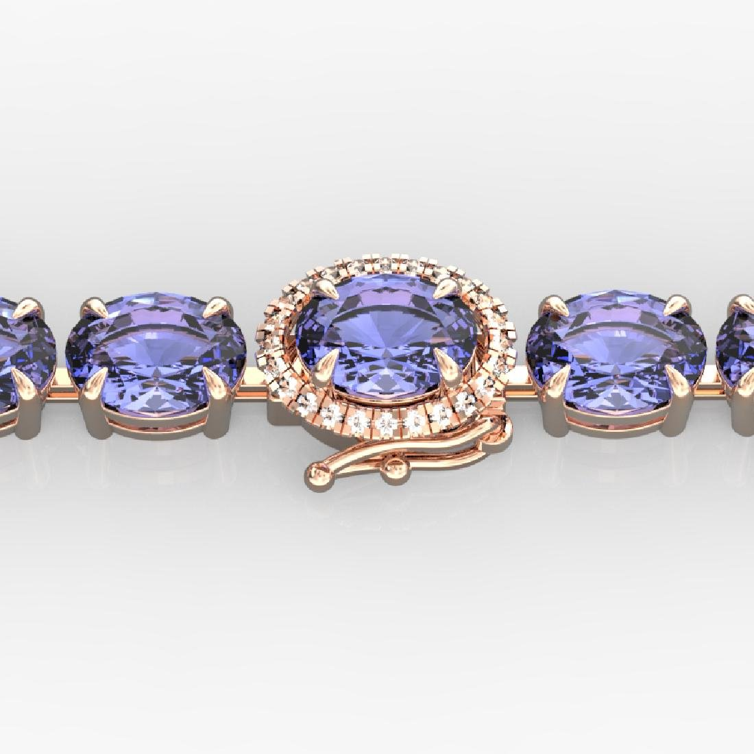19.25 CTW Tanzanite & VS/SI Diamond Eternity Micro Halo