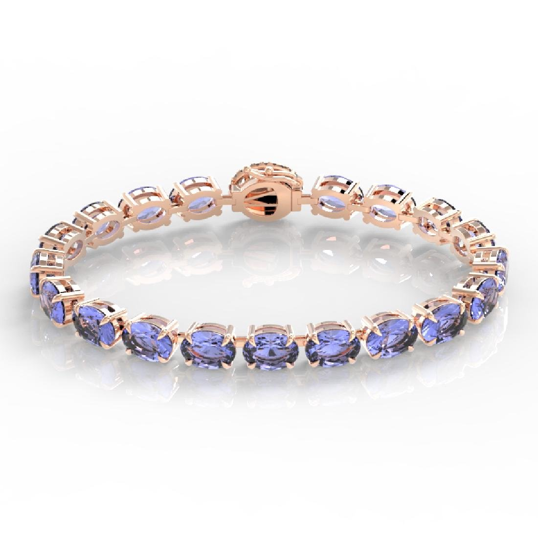 19.25 CTW Tanzanite & VS/SI Diamond Eternity Micro Halo - 2