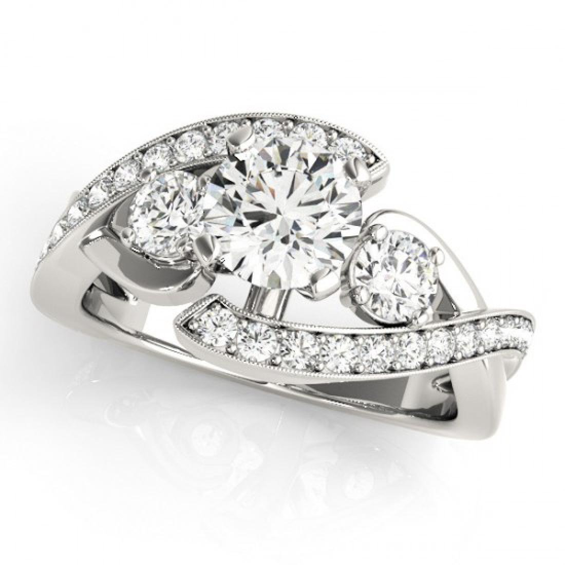 2.01 CTW Certified VS/SI Diamond Bypass Solitaire Ring