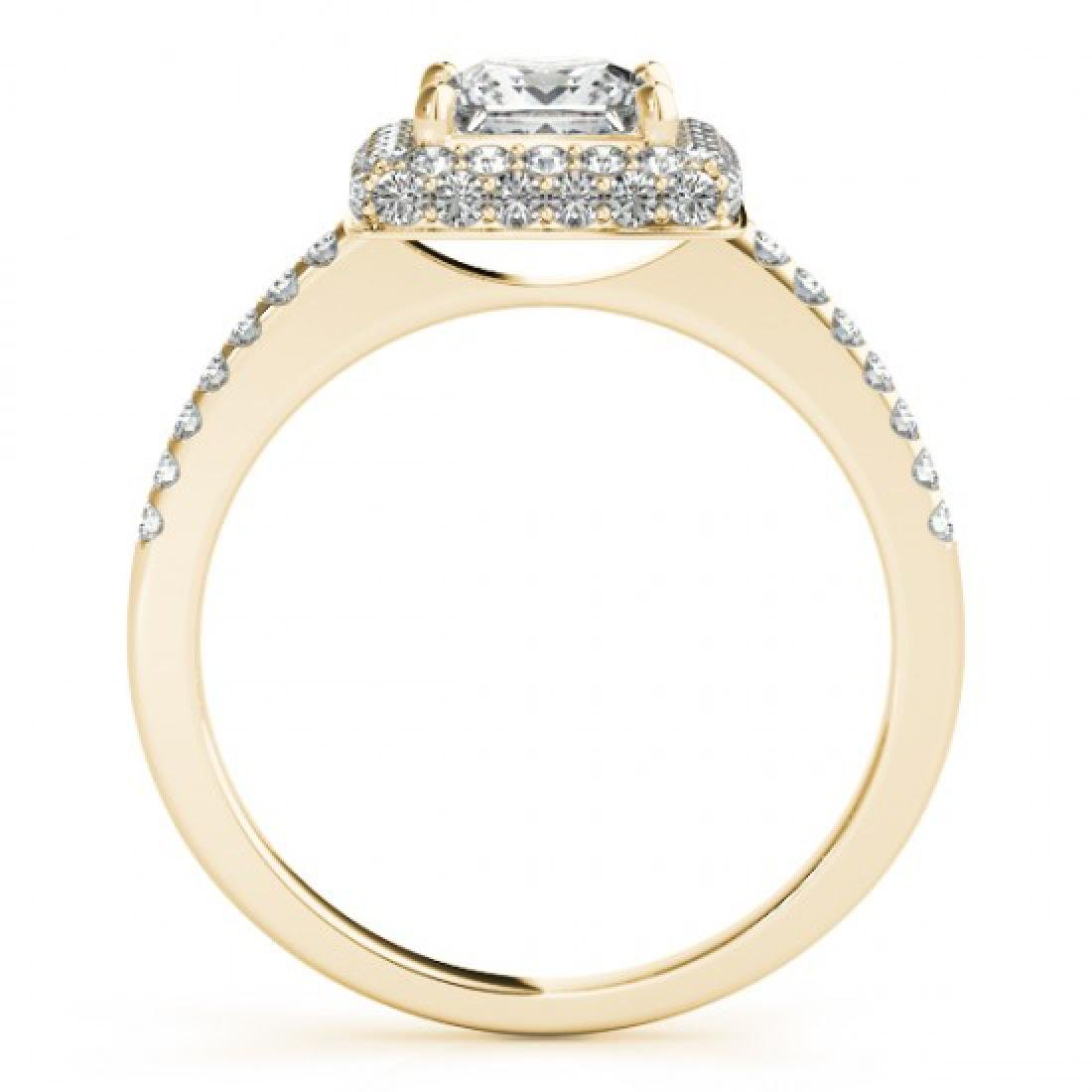 1.5 CTW Certified VS/SI Princess Diamond Solitaire Halo - 2